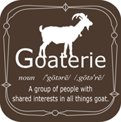 Goaterie badge