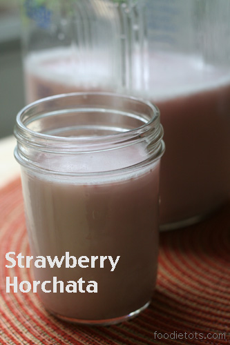 strawberry horchata @foodietots