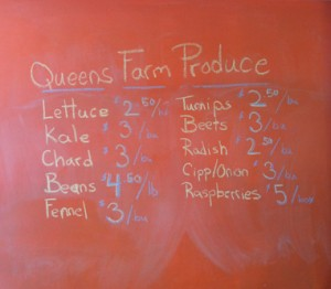 queens farm produce