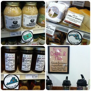 local products at mom's organic market