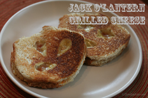 Jack O' Lantern Grilled Cheese