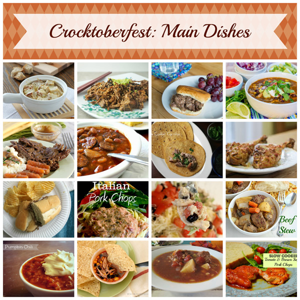 Crocktoberfest Main Dishes Collage