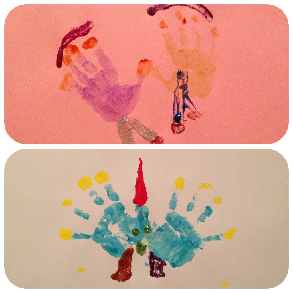 handprint menurkey placements | foodietots.com