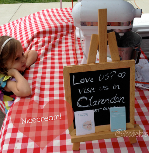 Nicecream at Mosaic Central Farm Market | FoodieTots.com