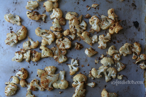 Roasted Cumin Cauliflower Recipe | FoodieTots.com