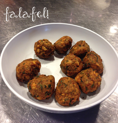 fresh-made falafel at cava | foodietots.com
