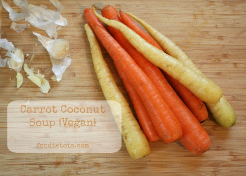 Carrot Coconut Soup {Vegan} | foodietots.com