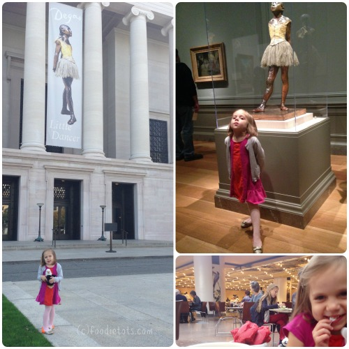 visiting Degas' Little Dancer | foodietots.com