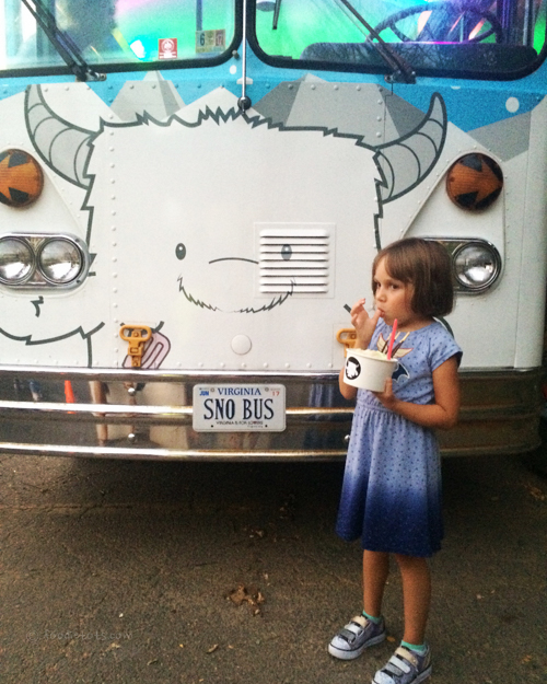 SnoCream Company vintage school bus | #familystyledc
