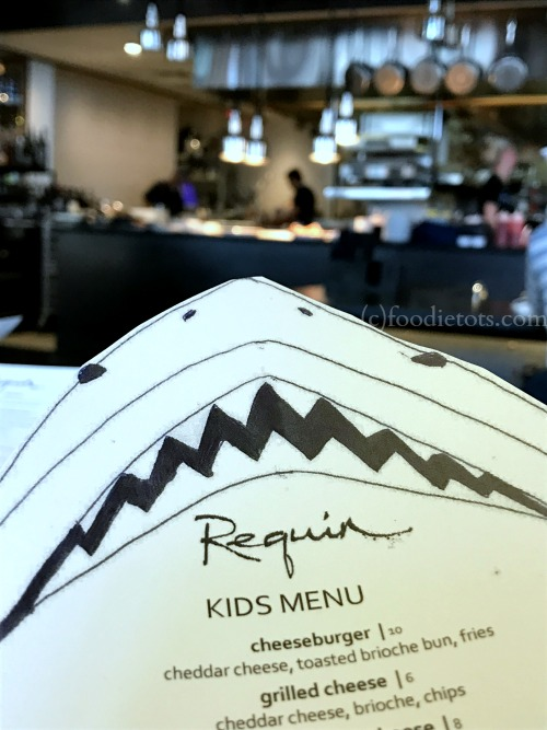 kids menu at Requin | foodietots.com